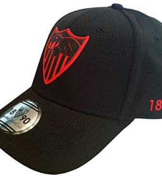 Sevilla CF Gorra Premium Negra Sevilla FC, Unisex Adulto, Talla Única