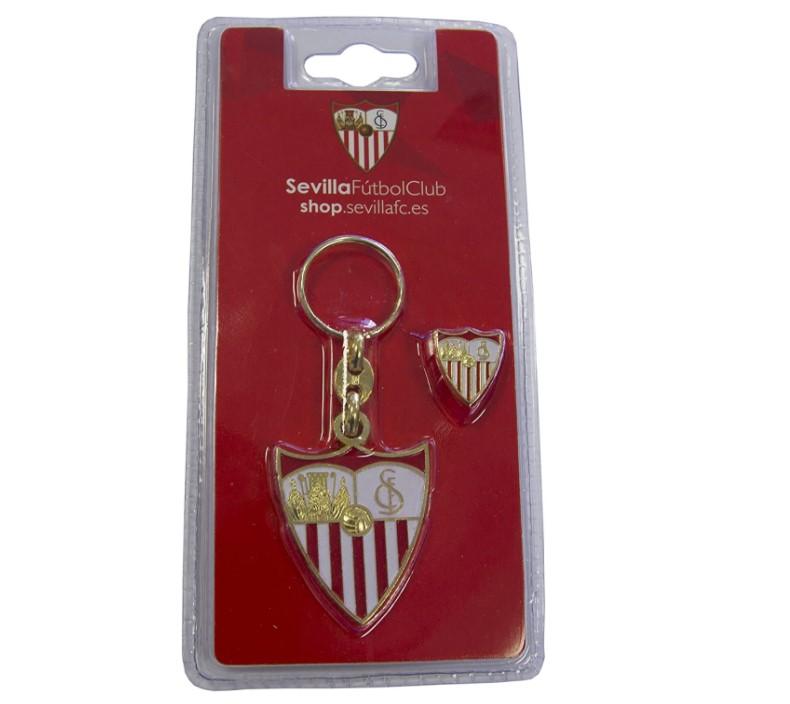 Llavero y Pin del Sevilla FC